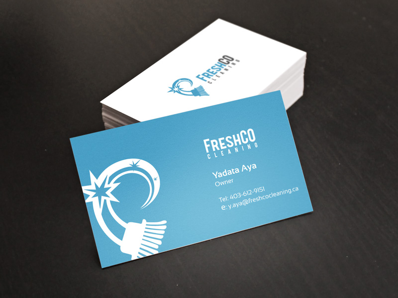 Commercial Cleaning Company Logo and Card Design - Digital ...