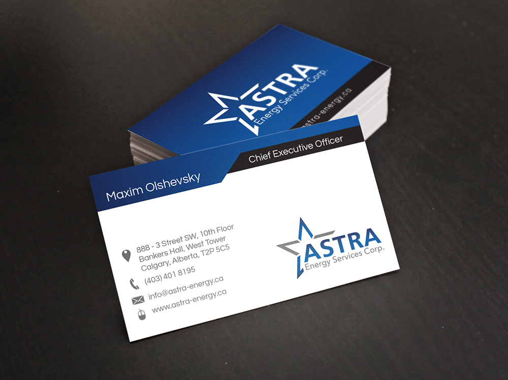 Business Card Design for a Local Energy pany Digital Lion