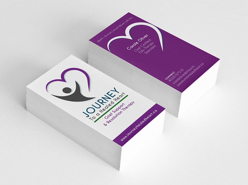 Business Card Design For a Grief Counselor - Digital Lion